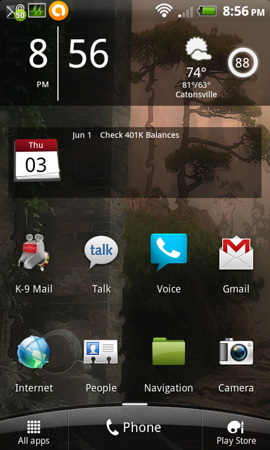 Sense 3.5 Android Home Screen