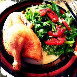 Roast Chicken with Tossed Green Salad